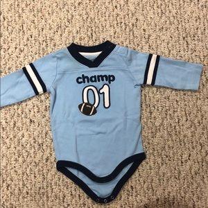 Champ 🏈 long sleeve onesie